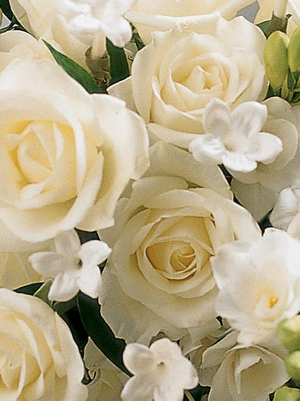 Ivory Rose & Orchid Scented Bridal Bouquet1