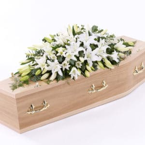 Lily Casket Spray Funeral Tribute