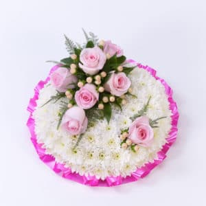 Funeral Posy Pink & White