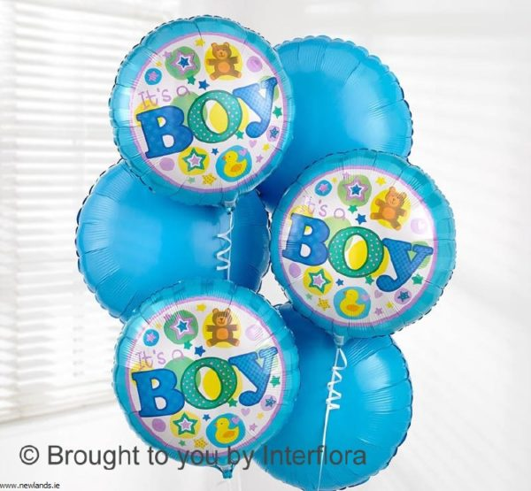 large-Baby Boy balloon Bouquet