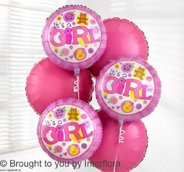 large-Baby Girl balloon Bouquet