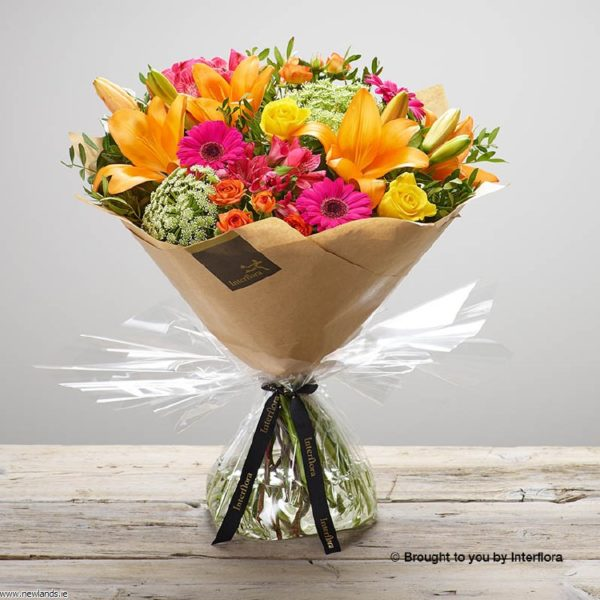 large-Flaming Fiesta Hand-tied