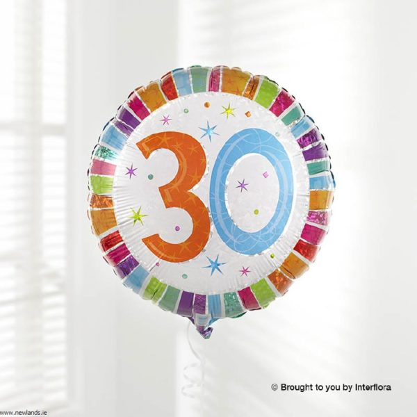 large-Happy 30th Birthday Balloon