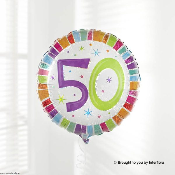 large-Happy 50th Birthday Balloon