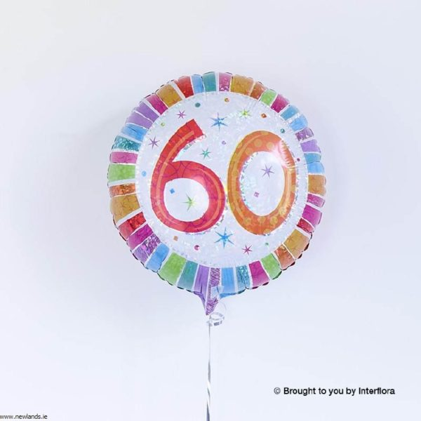 large-Happy 60th Birthday Balloon